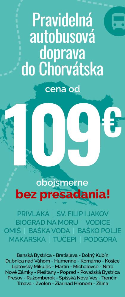 Pravidelná autobusová doprava do chorvátska